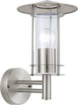 EGLO Lisio - Buitenverlichting - Wandlamp - 1 Lichts - RVS - Helder