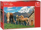 Jumbo Mare and Foals in the Alps - 500 stukjes
