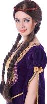 Middeleeuwse pruik voor vrouwen - Verkleedpruik - One size