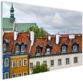 Huizen Warschau Glas 180x120 cm - Foto print op Glas (Plexiglas wanddecoratie) XXL / Groot formaat!
