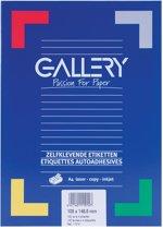 6x Gallery witte etiketten 105x148,5mm (bxh), rechte hoeken, doos a 400 etiketten