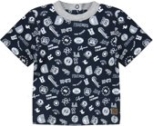 Ducky Beau Baby T-shirt College - Navy Blue - Maat 62