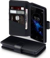 Sony Xperia XZ2 Compact hoesje - CaseBoutique - Zwart - Leer
