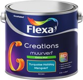 Flexa Creations Muurverf - Extra Mat - Turquoise Holiday - 2,5 liter