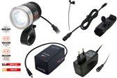 Sigma PowerLed Evo Led Fiets Koplamp - Accu/Batterij - Zwart