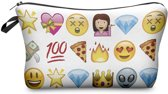 Emoji etui wit - perfect als school-/toilet/make-up etui