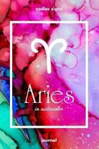 Zodiac signs ARIES in watercolor Journal: Blank bullet journal with a colorful watercolor cover and a zodiac sign. Have your celestial star as a compa