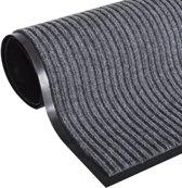vidaXL Deurmat PVC 90 x 60 cm (grijs)