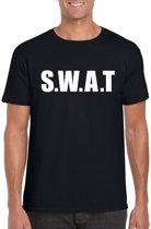 SWAT tekst t-shirt zwart heren M