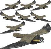 relaxdays 8 x vogelverschrikker vliegende valk - tuindecoratie - vogelwering – verjagen