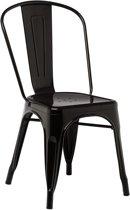 Industriële Stalen cafe eetkamer stoel Tolix design zwart
