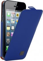Kenzo Leather/Metal Flip Case voor Apple iPhone 5/5S Blue