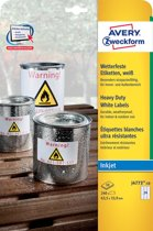 Avery weerbestendige etiketten   635 x 339 mm (b x h) 24 etiketten per blad 240 etiketten per doos