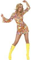 Sexy Hippie jurkje | Jaren 70 verkleedkleding dames maat S (36-38)