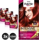 Poly Palette 678 Robijnrood Haarverf - 3 stuks - Voordeelverpakking