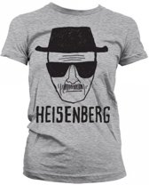 Dames T-shirt Breaking Bad Heisenberg grijs M