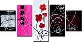 Art4-all - Canvas Schilderij Bloemen - 160x80cm