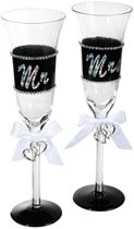 Mr & Mrs champagneglas - 24 cm
