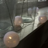 Kerstverlichting lichtsnoer Bal 24 warm wit LED 3,8 meter