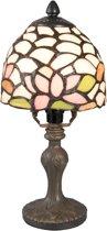 Tafellamp Tiffany ø 14*29 cm / E14/max 1*25W Multi | 5LL-5917 | Clayre & Eef