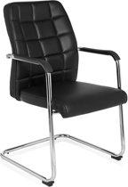 hjh office Flexo PU - Bureaustoel - Vergaderstoel - Bezoekersstoel - Zwart