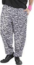 Witte baggy broek zebraprint Xl