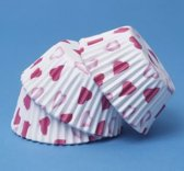 Papieren cupcake vormpjes hartjes, set van 60 - PME Arts&Crafts