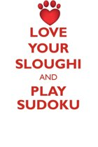 Love Your Sloughi and Play Sudoku Sloughi Sudoku Level 1 of 15