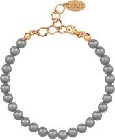Parel Armband - Dames - 925 Zilver Roséverguld - 18 - 6