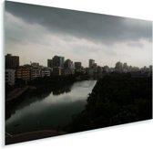 Prachtige horizon in de stad Dhaka Plexiglas 120x80 cm - Foto print op Glas (Plexiglas wanddecoratie)
