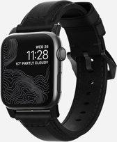 Nomad Strap - Traditional - voor Apple Watch 44 & 42mm - Zwart