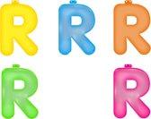 Opblaas letter R  Roze