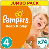 Pampers Simply Dry - Maat 4 Jumbo Box 74 luiers