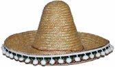 Stro sombrero 25 cm voor kinderen - Mexicaanse hoed