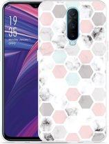 Oppo RX17 Pro Hoesje Marmer Honeycomb