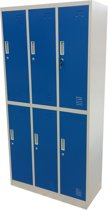 Kraftmeister Locker 6 deuren blauw