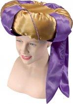 Sultan hoed goud en paars