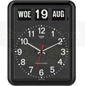 Twemco BQ12 - Klok - Rechthoekig - Kunststof - 30x38 cm - Black