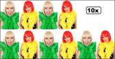 10x Boa brandveilig geel/groen 180cm