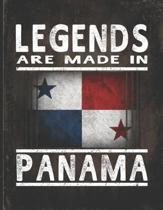 Legends Are Made In Panama: Customized Gift for Panamanian Coworker Undated Planner Daily Weekly Monthly Calendar Organizer Journal