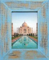 Henzo India Fotolijst - Fotomaat 10x15 cm Blauw