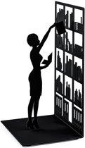 Balvi boekensteun The library zwart metaal