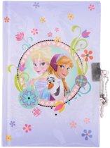 Disney Dagboek Frozen Paars 18 Cm