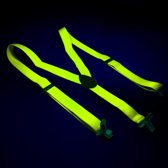 Bretels fluor geel - Suspenders neon yellow
