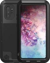 Metalen hoes voor Samsung Galaxy Note 10 Plus (Note 10+), Love Mei, metalen extreme protection case, zwart