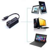 USB 2.0 Gigabit Ethernet Adapter - RJ45/Internet/LAN/Netwerk Adapter - Voor Windows PC/Apple Mac/Macbook