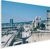 Weergave van Marseille in Frankrijk Plexiglas 180x120 cm - Foto print op Glas (Plexiglas wanddecoratie) XXL / Groot formaat!