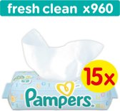 Pampers Fresh Clean Billendoekjes - 960 Stuks