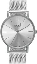 Regal - Regal mesh horloge limited edition zilverkleurig