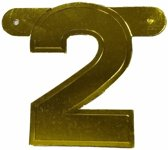 Banner cijfer 2  Goud